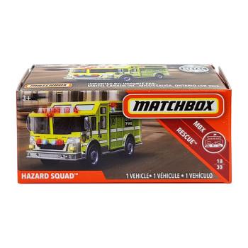 Matchbox Power Grabs HAZARD SQUAD 1:64 Scale Die-cast Vehicle in packaging.
