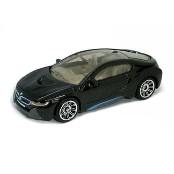 Matchbox '16 BMW I8 hybrid sports car in black.