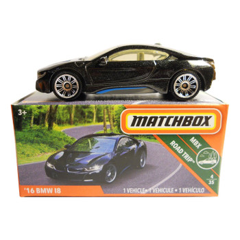 The Matchbox '16 BMW I8 is #4/35 in the MBX Road Trip™ collection.