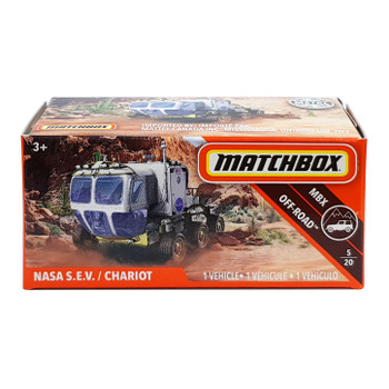 Matchbox Power Grabs NASA S.E.V. CHARIOT 1:64 Scale Die-cast Vehicle in packaging.