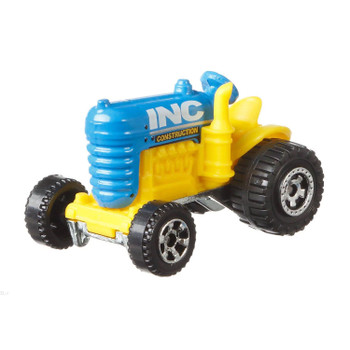 Matchbox Crop Master tractor with blue & yellow INC Construction livery.