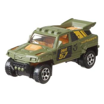 Matchbox Ridge Raider all-terrain vehicle of fictional design in olive green