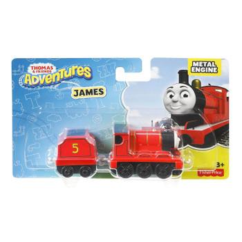 Thomas & Friends Adventures JAMES Die-cast Metal Engine in packaging.