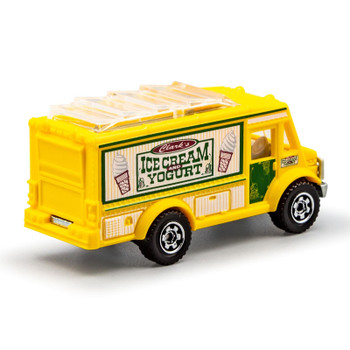 Matchbox Chow Mobile food truck with officially licensed 'Clark's Ice Cream & Yoghurt' deco.