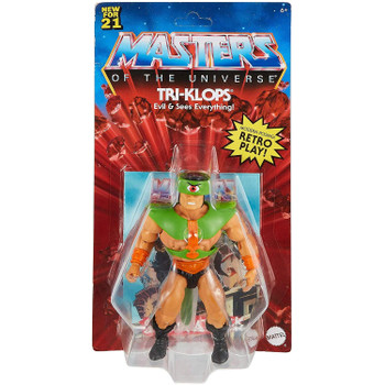 Masters of the Universe Origins TRI-KLOPS 5.5-inch Action Figure in packaging.