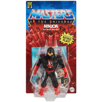 Masters of the Universe Origins NINJOR 5.5-inch Action Figure in packaging.