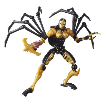 Unleash the primal power of the beasts with this Blackarachnia collectible figure, featuring a detailed beast mode with intricate spider-inspired molded texture.