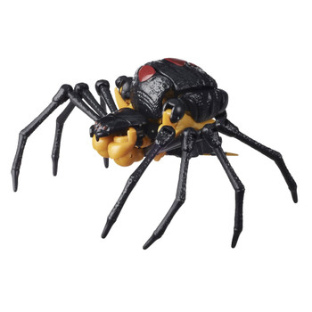Blackarachnia toy converts into a Beast Wars-inspired spider mode in 20 steps.