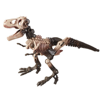 Paleotrex toy converts into a T. Rex fossil mode in 32 steps. Features lower jaw articulation optimal for roaring poses.