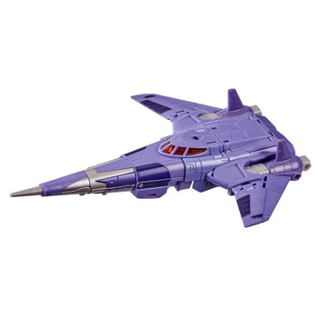 This G1-inspired toy converts from 6.5-inch (16 cm) scale robot into Cybertronian fighter craft mode in 34 steps.