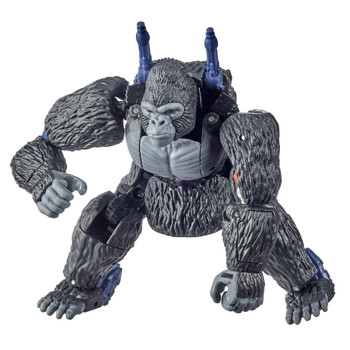 Optimus Primal toy converts to Beast Wars-inspired gorilla mode in 22 steps. Hip articulation allows for posing gorilla mode upright or in a crouch. Well, that's just prime!.