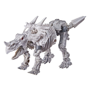 Ractonite toy converts into a Styracosaurus fossil mode in 16 steps. Features lower jaw articulation optimal for roaring poses
