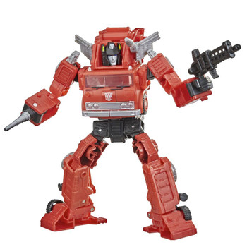 This G1-inspired toy converts from 6.5-inch (16 cm) scale robot into firetruck mode in 17 steps.