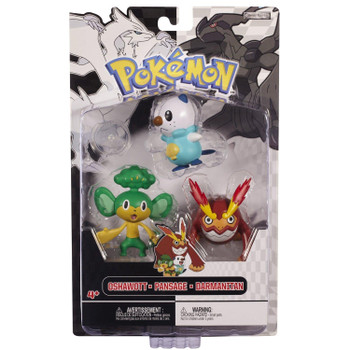 Pokemon Black & White Series: OSHAWOTT, PANSAGE & DARMANITAN 3-Figure Multi-Pack in packaging.