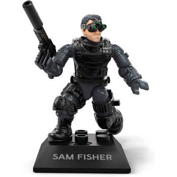 Buildable, collectible, faithfully designed and highly articulated Sam Fisher micro action figure with tactical body armour, pistol with silencer and trademark three-eyed night vision goggles.