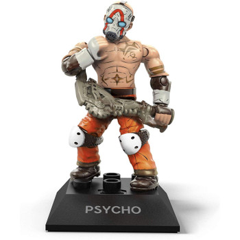 Buildable, collectible, faithfully designed and highly articulated Psycho micro action figure with authentic white mask and buzz axe accessories.