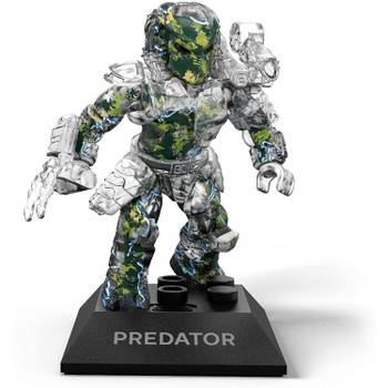 Buildable, collectible, faithfully designed and highly articulated Predator micro action figure with bio-helmet, body armor, shoulder cannon and wristblade.