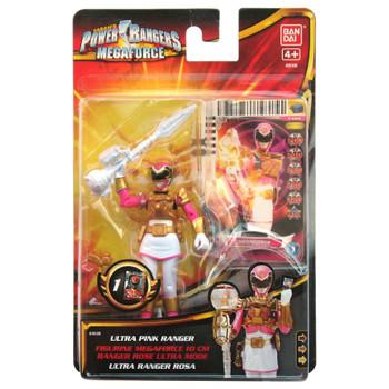 Power Rangers Megaforce 10cm ULTRA PINK RANGER Action Figure in packaging.