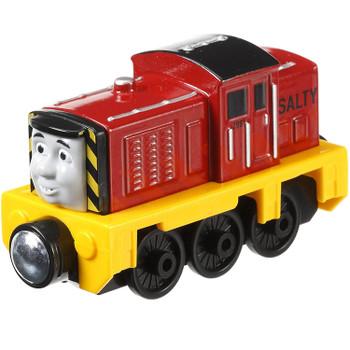 Thomas & Friends Take-n-Play SALTY Die-cast Metal Engine features magnetic connectors.