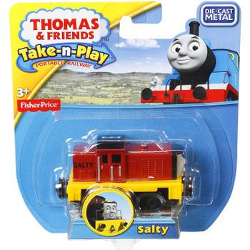 Thomas & Friends Take-n-Play SALTY Die-cast Metal Engine in packaging.