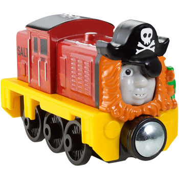 """Salty comes decked out in his special """"pirate costume"""" which depicts him as he appears in the DVD, Sodor's Legend of the Lost Treasure."""