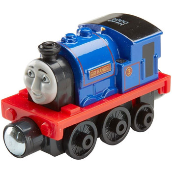 Thomas & Friends Take-n-Play SIR HANDEL Die-cast Metal Engine features magnet connectors that connect to other vehicles, engines, cargo trucks or tenders (each sold separately).