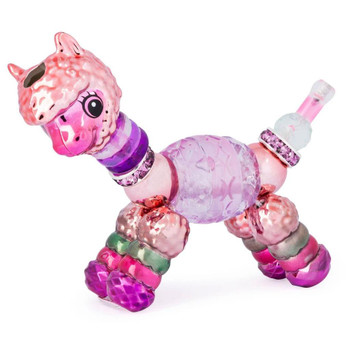 Twisty Petz Alpa Alpaca features a Rose Gold finish on select parts and measures around 3-inch (8 cm) long.