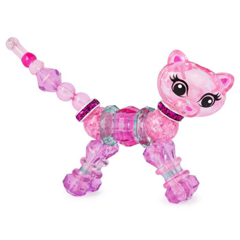 Twisty Petz Lady Fluff Kitty features a Glitter finish on select parts and measures around 3-inch (8 cm) long.