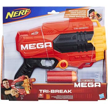 NERF N-Strike Mega Tri-Break Blaster in packaging.