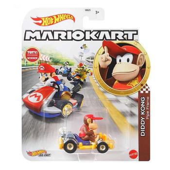 Hot Wheels Mario Kart DIDDY KONG (Pipe Frame) 1:64 Scale Replica Die-Cast Vehicle in packaging.