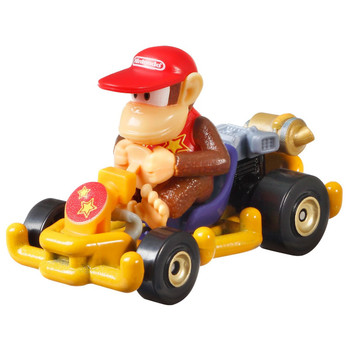 Hot Wheels partners with fan-favourite Mario Kart for this Diddy Kong track-optimized die-cast 1:64 scale replica vehicle.