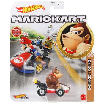 Hot Wheels Mario Kart DONKEY KONG (Standard Kart) 1:64 Scale Replica Die-Cast Vehicle in packaging.
