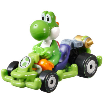 Hot Wheels partners with fan-favourite Mario Kart for this Yoshi track-optimized die-cast 1:64 scale replica vehicle.