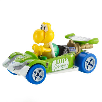 Hot Wheels partners with fan-favourite Mario Kart for this Koopa Troopa track-optimized die-cast 1:64 scale replica vehicle.