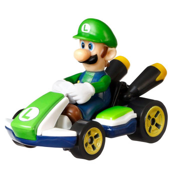 Hot Wheels partners with fan-favourite Mario Kart for this Luigi track-optimized die-cast 1:64 scale replica vehicle.