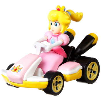 Hot Wheels partners with fan-favourite Mario Kart for this Princess Peach track-optimized die-cast 1:64 scale replica vehicle.