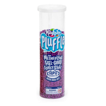 Purple Pluffle comes in Flip n' Flow storage tube container.
