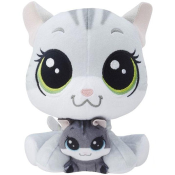 Tabsy Felino is an adorable plush pet kitty who comes with her baby, Holiday Felino, nestled between her cute, furry paws.