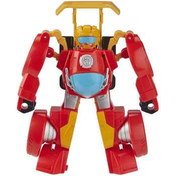 Selected to become a Rescue Bots Academy trainee by none other than Optimus Prime himself, Hot Shot is the hero of the team!