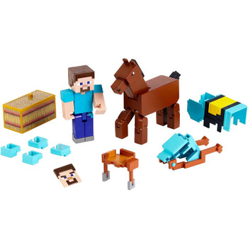 Minecraft Comic Maker STEVE AND ARMORED HORSE 3.25-inch Action Figure 2-Pack