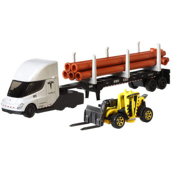 Matchbox delivers incredible and realistic convoys for maximum collectability and play! Each rig is around 7-inches long with a detachable cab and includes an awesome 1:64 scale Matchbox vehicle.