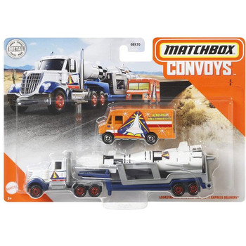 Matchbox Convoys LoneStar Cab & Rocket Trailer with Express Delivery 1:64 Scale Die-cast Vehicle in packaging.