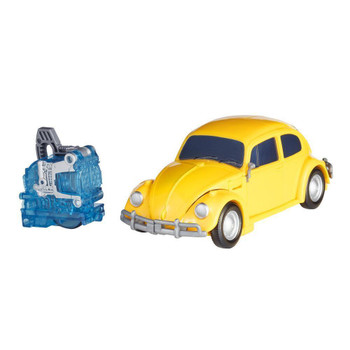 Converts between robot and VW Beetle modes in 9 steps