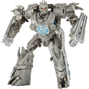 5-INCH SCALE SOUNDWAVE: Figure is highly articulated, featuring vivid, movie-inspired deco, and includes stand accessory.