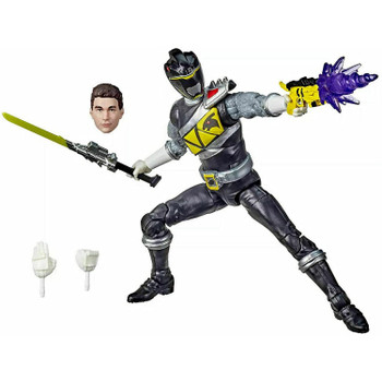6-INCH SCALE COLLECTIBLE DINO CHARGE BLACK RANGER ACTION FIGURE: This Power Rangers Lightning Collection action figure has premium painted details and design inspired by the Dino Charge series.