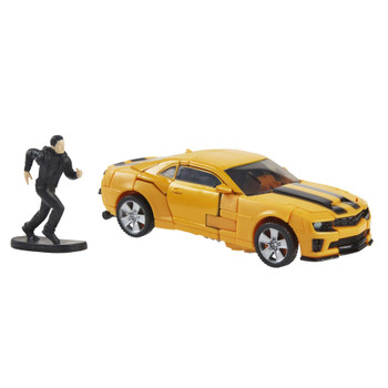 This Bumblebee toy features classic conversion between robot and licensed Camaro modes in 40 steps. Perfect for fans looking for a more advanced converting figure.