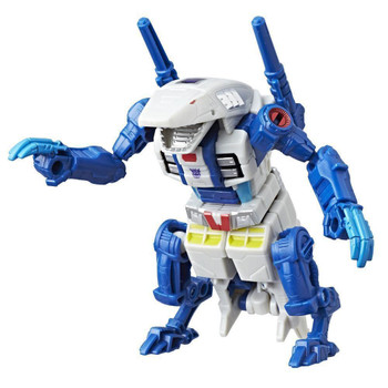 Terrorcon Rippersnapper converts from robot mode to land shark mode in 14 steps.