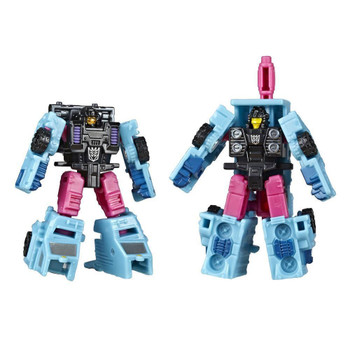 WFC-S47 Decepticon Battle Squad figures Direct-Hit and Power Punch convert in 5 and 4 easy steps from robot mode to vehicle modes.