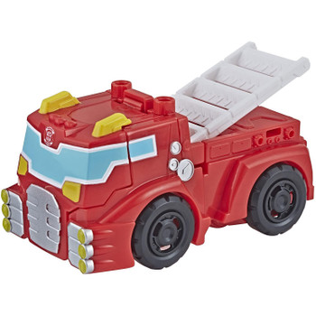 Little heroes can enjoy twice the fun with 2 modes of play, converting this action figure from fire truck to robot and back again in just 1 easy step.
