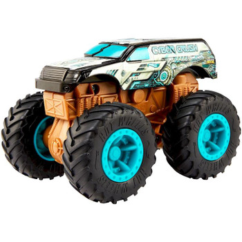 Cyber Crush Monster Truck features SUV styling with a cybernetic deco.
